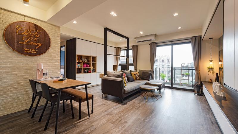 混搭人文風專訪-設計師實現夢想自宅!系統傢俱揉塑 25 坪純淨新婚宅