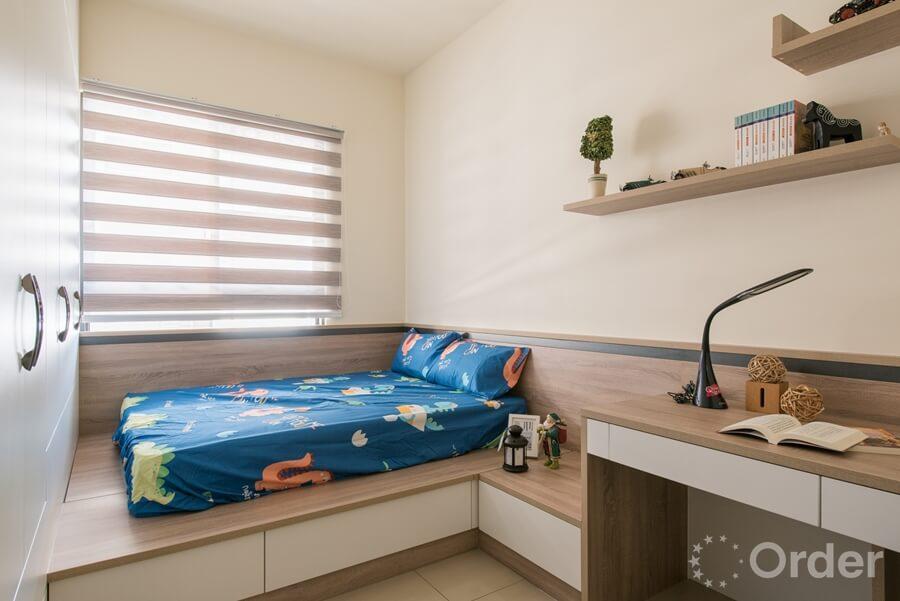 臥榻收納裝潢設計優渥實木家具