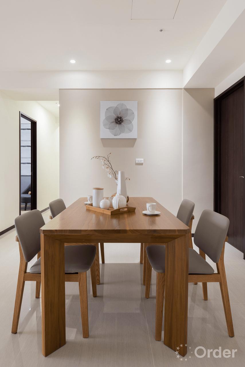 餐廳裝潢室內設計歐德集團優渥實木家具