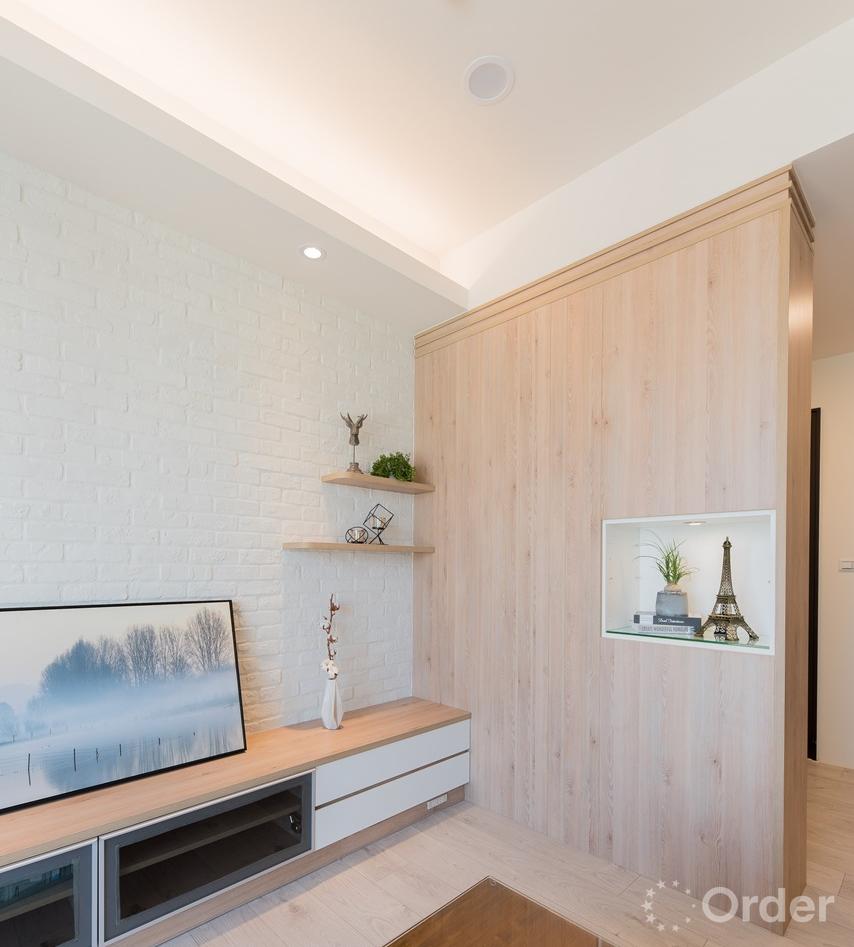北歐風客廳室內設計系統櫃高收納量