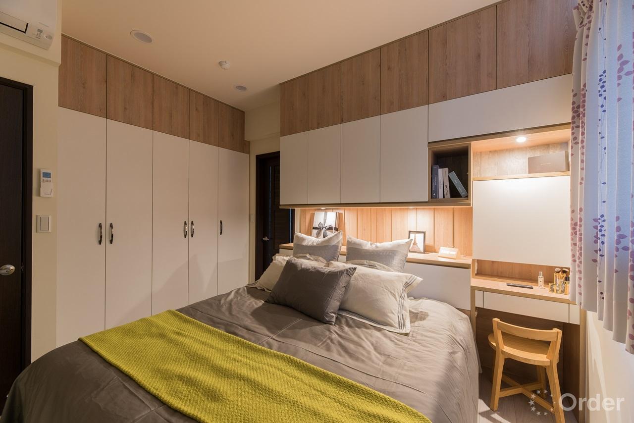 北歐風格臥室搭配系統櫃收納