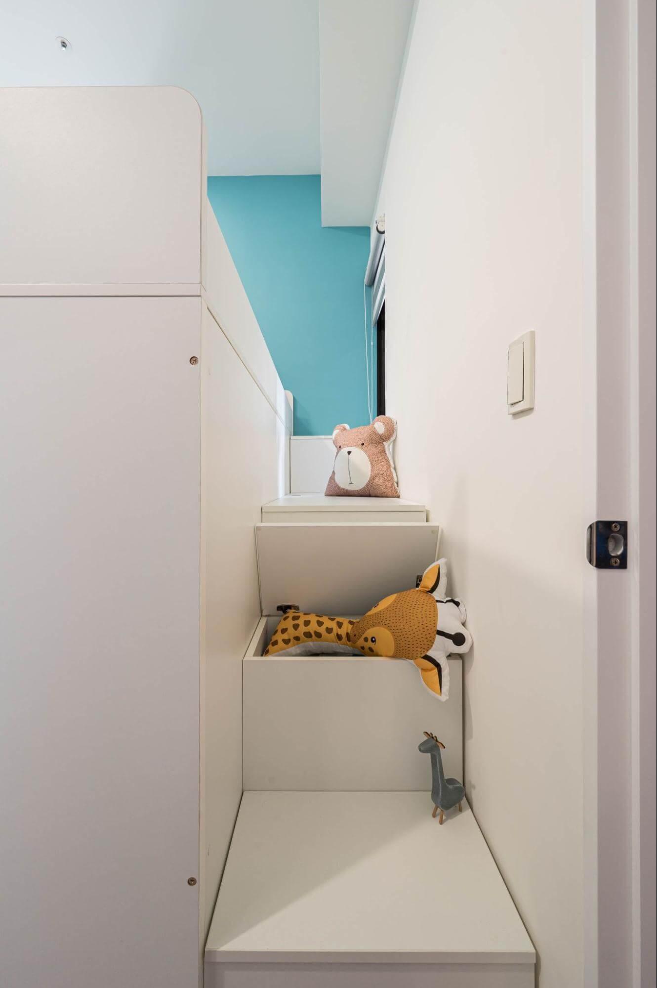 雙人小孩房設計:上下鋪樓梯