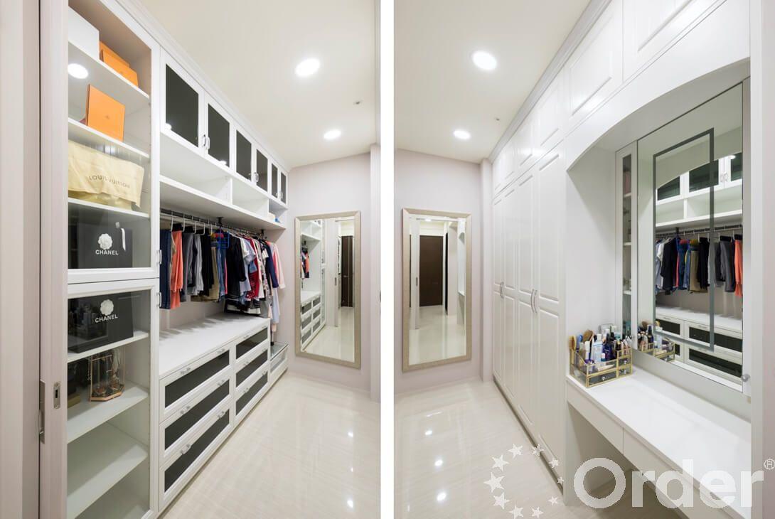 拉門改變房間格局,劃分出獨立更衣空間