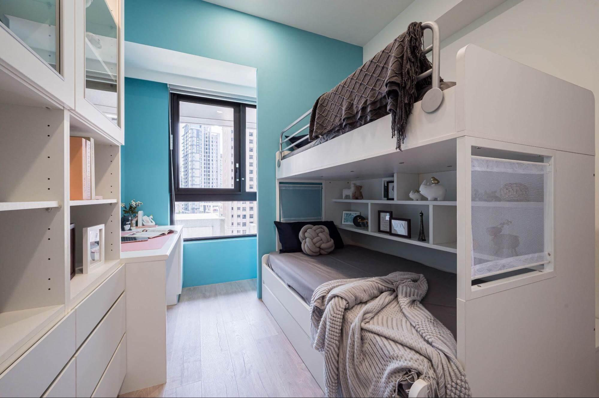 雙人女生小孩房設計